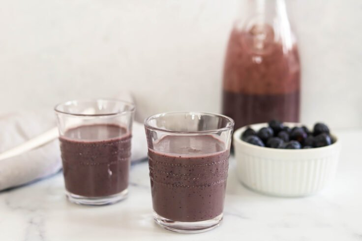 Our blueberry banana smoothie is the perfect Summertime recipe..