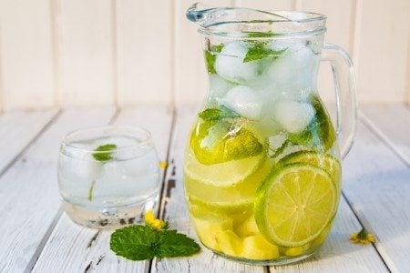 Ginger, Lime, and Mint Flavored Sparkling Water