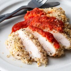 Our healthy chicken parmesan is perfect for special occasions or regular weeknights.