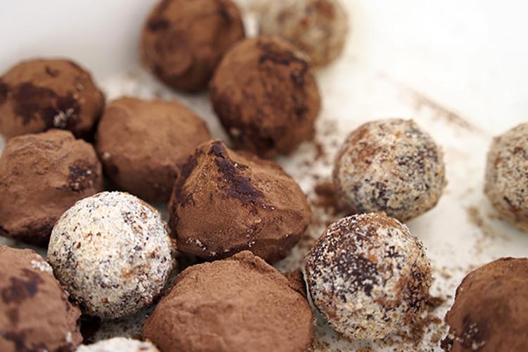No-Bake Fudge Brownie Bites