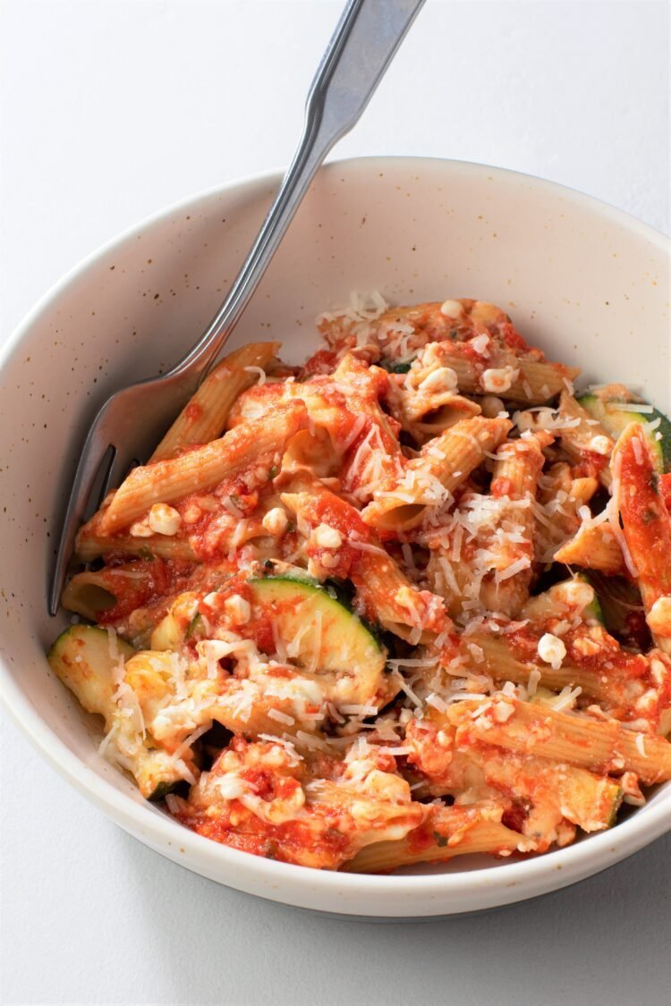 Satisfy your comfort food needs in a healthier way with this yummy ziti!
