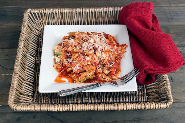 Slow Cooker Zucchini Ziti