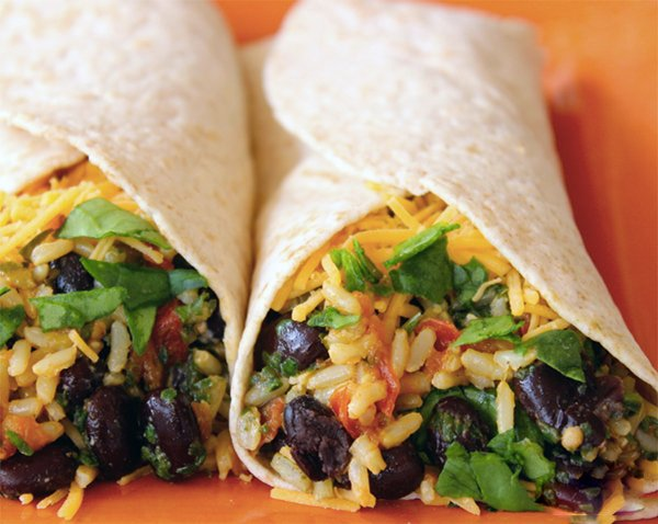 Spinac Bean Burrito Wrap