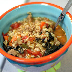Chunky Turkey and Vegetable Soup