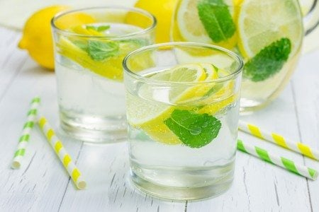 Morning Lemon & Mint Detox Water