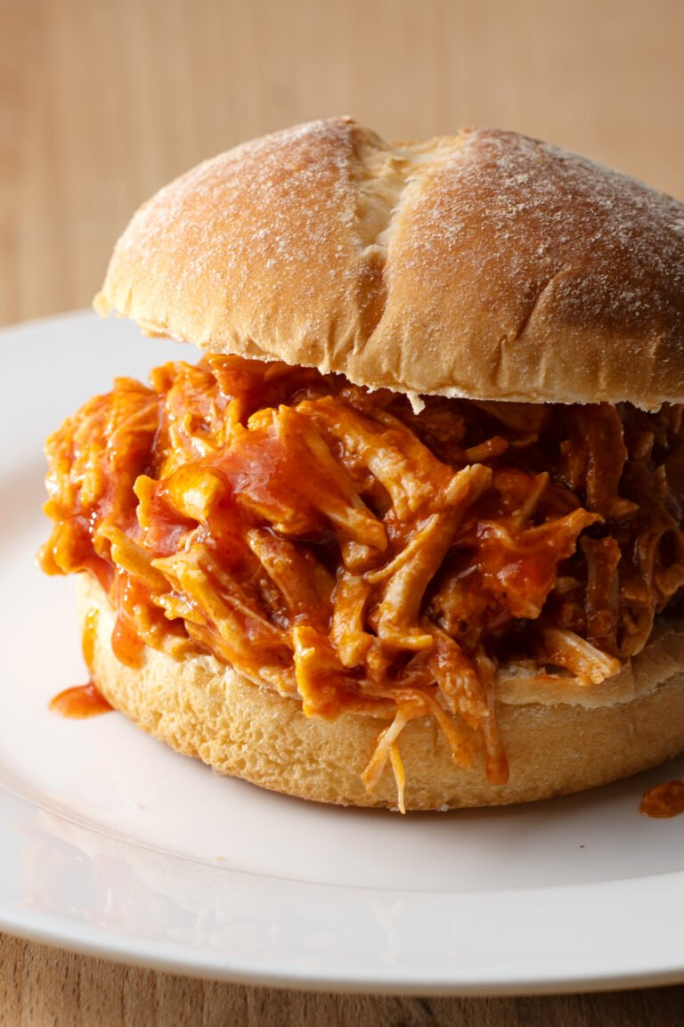 This delicious pulled pork sandwich is perfect for a Sunday night outdoors.