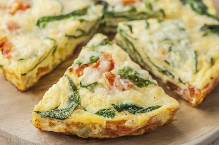 Try this super low-carb Spinach and Mozzarella Frittata!