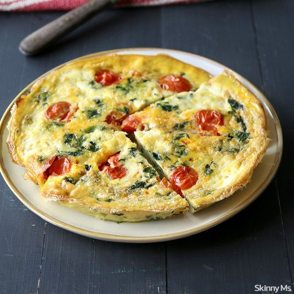 Slow Cooker Spinach and Mozzarella Frittata