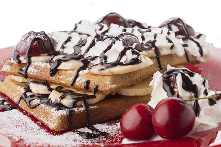Cherry Chocolate Chip Pancakes (or Waffles)