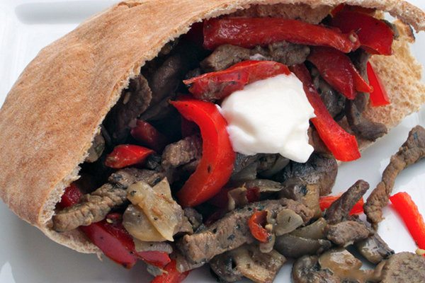 Mushroom and Steak Fajita Sandwiches