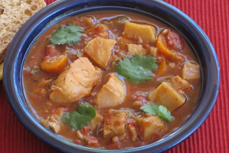 Slow Cooker Halibut Stew