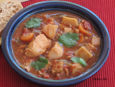 Slow cooker halibut stew for Slow cooker fish stew