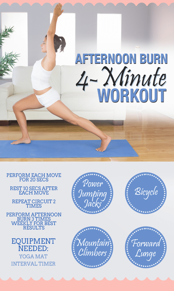 Afternoon Burn - 4 Minute Workout