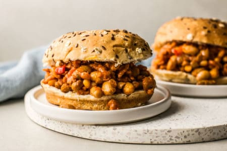 Slow Cooker Barbecued Beans & Chicken Joes