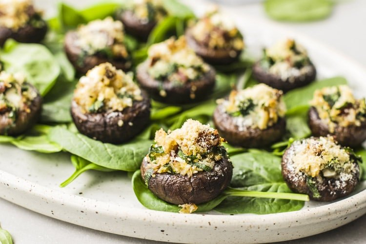 Our easy stuffed mushrooms are a great appetizer for the holidays!