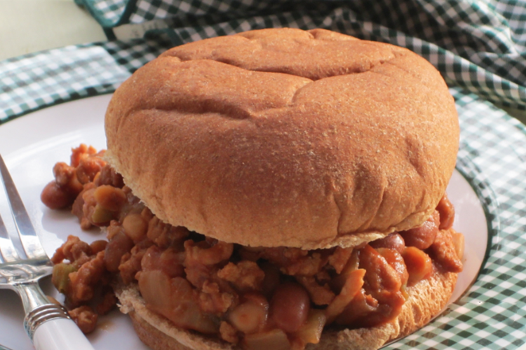 Slow Cooker Barbecued Beans Chicken Joes