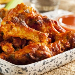 spicy barbecued chicken drumsticks