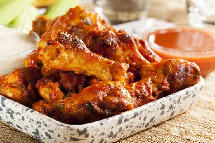 spicy barbecued chicken drumsticks