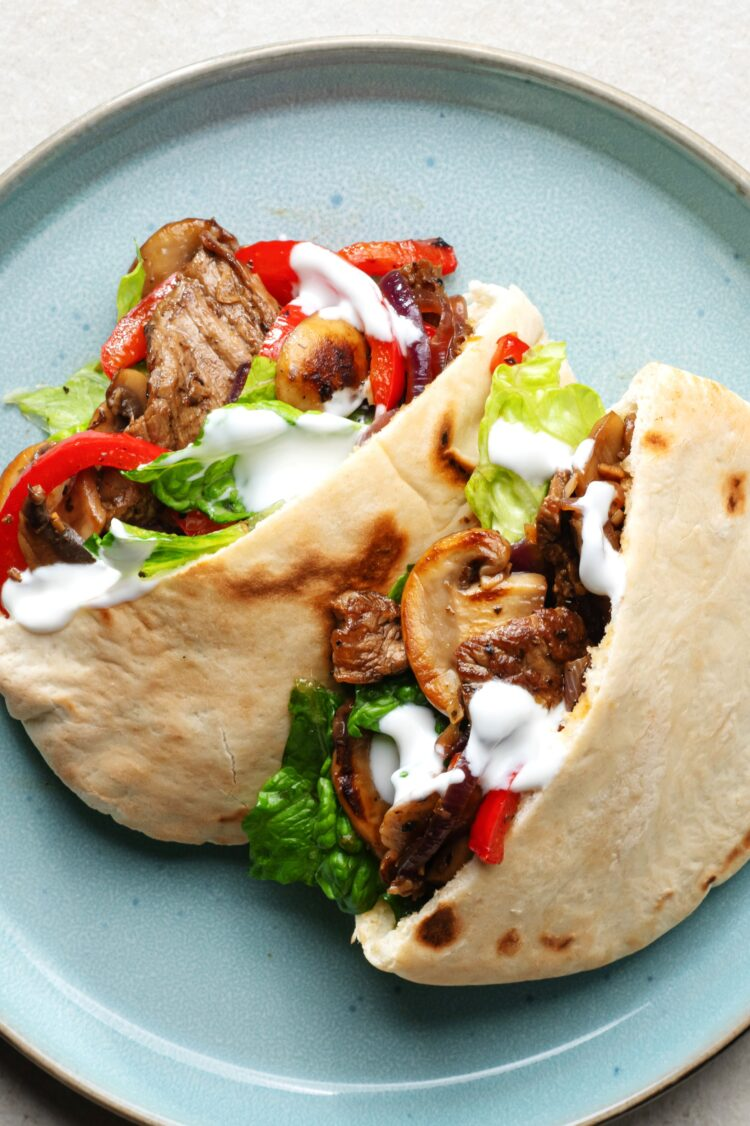These tender steak sandwiches will allow you to enjoy your favorite fajita flavors on your lunch break!