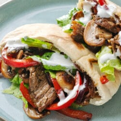 Our healthy, family-friendly Steak Fajita Sandwiches are perfect for lunch or dinner.