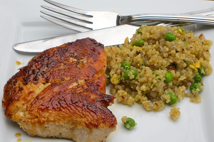 Turkey Cutlets with Quinoa Pilaf