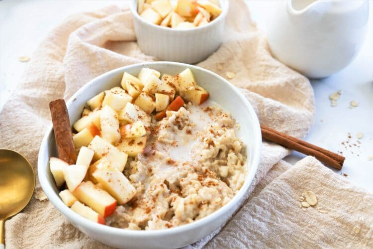 This slow cooker oatmeal is a super stress-free breakfast.