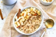 Dig into a bowl of our Slow Cooker Apple Cinnamon Oatmeal without any guilt at all!