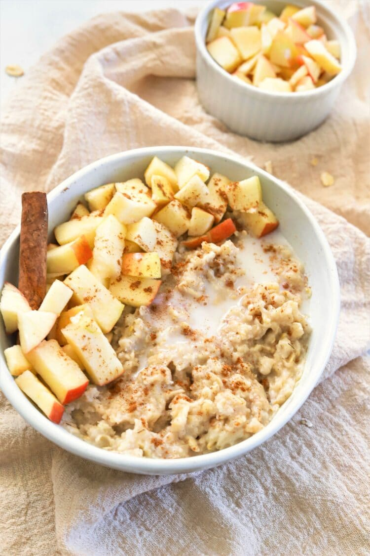 Our yummy apple cinnamon oatmeal will keep you going all morning long.