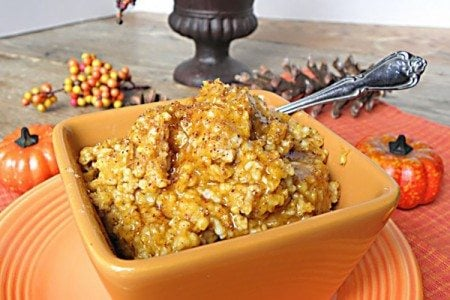 Overnight Slow Cooker Pumpkin Pie Steel Cut Oats: No Sugar Added