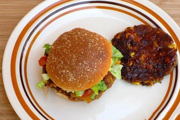Spicy Southwestern Vegetarian Burger