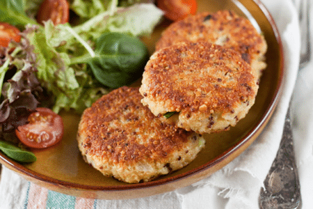 Fall Sweet Potato Quinoa Cakes