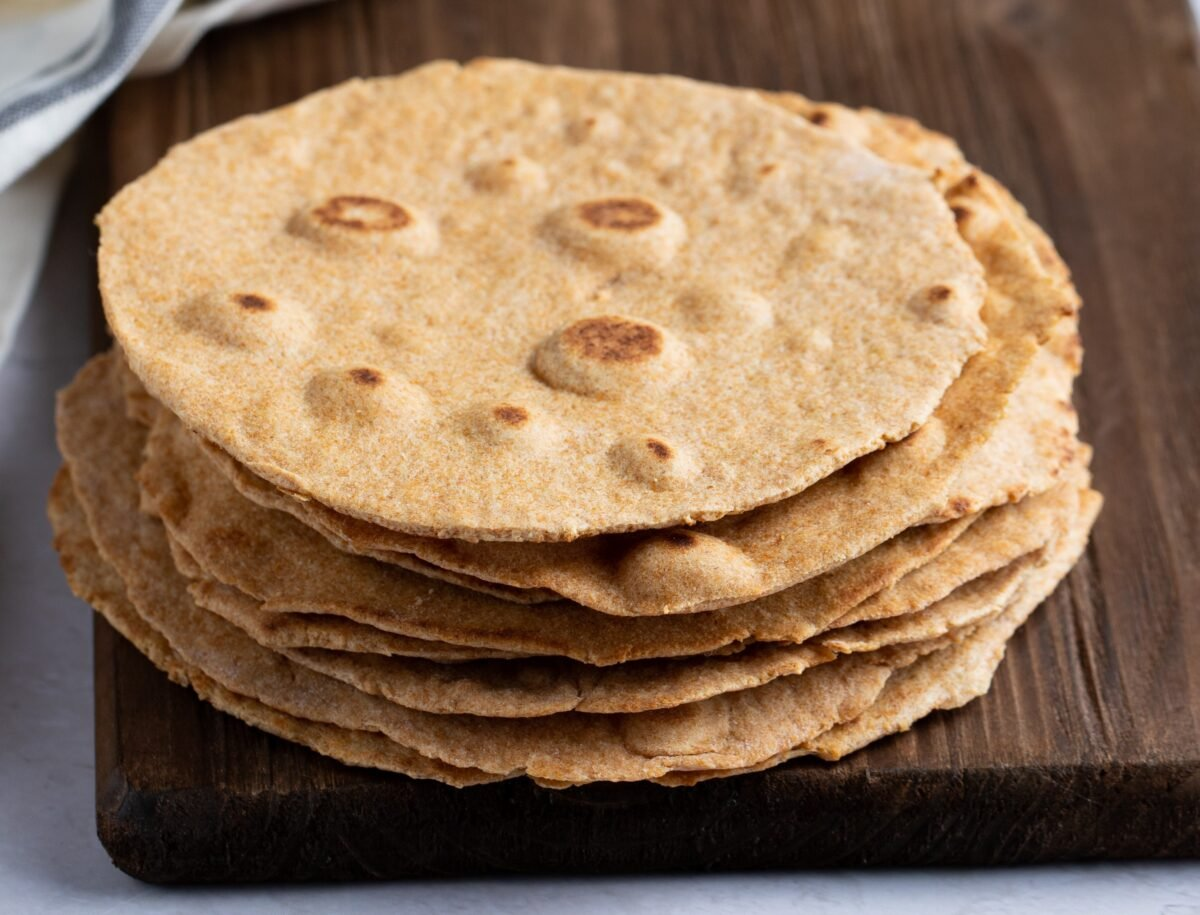 These homemade whole grain tortillas are perfect for tacos, burritos, quesadillas, and more!