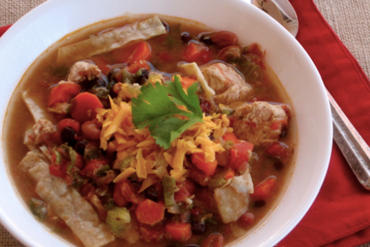 Slow Cooker - Chicken Tortilla Soup