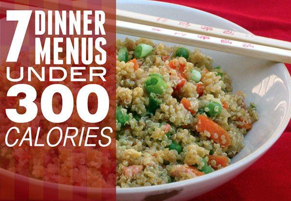 7 Dinner Menus Under 300 Calories'