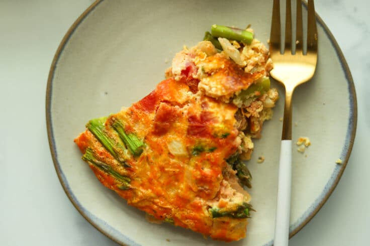 Our tasty, crustless asparagus quiche can be ready in under an hour.