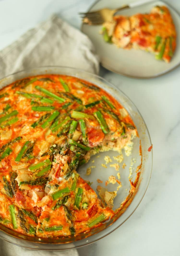 Who needs crust with a quiche this good?!
