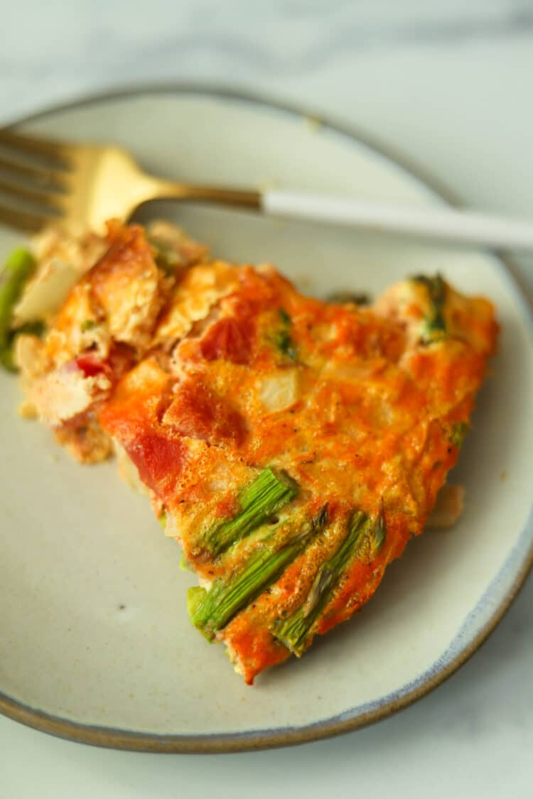 This protein-rich quiche is loaded with veggies and other delicious ingredients.