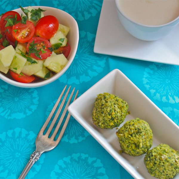 Homemade Baked Falafel with Tangy Tahini Sauce