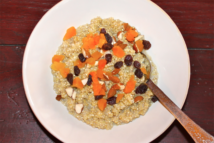 sweet morning breakfast quinoa