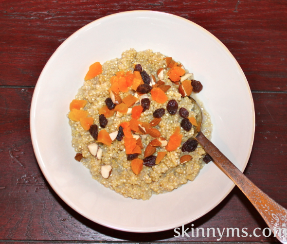 Quinoa makes a hearty breakfast cereal while providing protein and ...