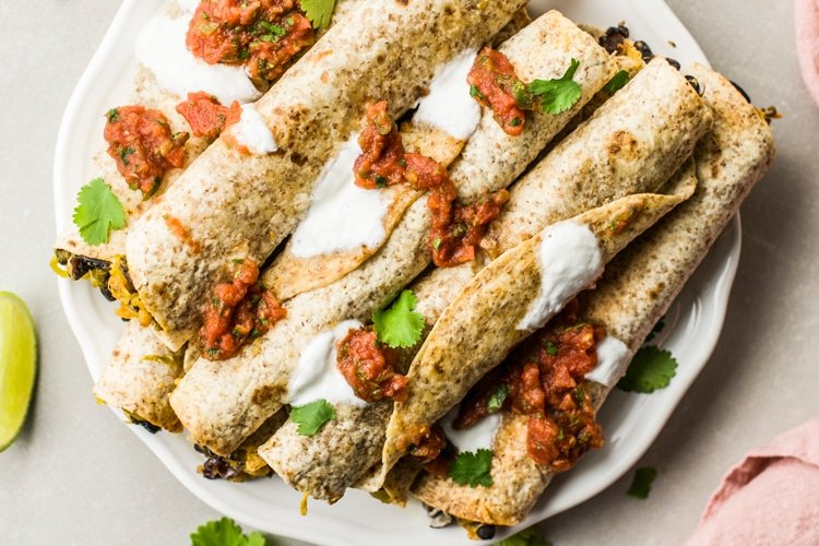 flautas that are baked, not fried