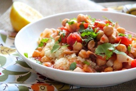 Slow Cooker Chickpea Stew with Apricots