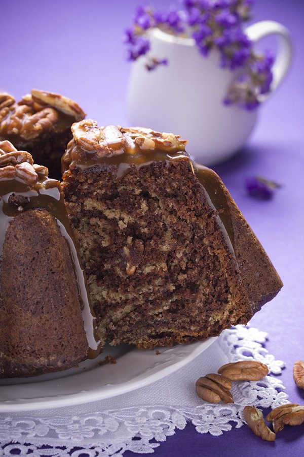 Vegan Chocolate Banana Nut Bread