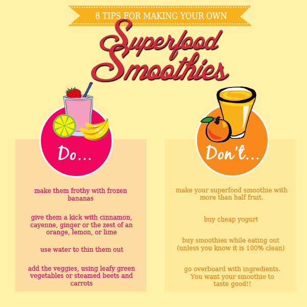 8 Tips for Superfood Smoothies