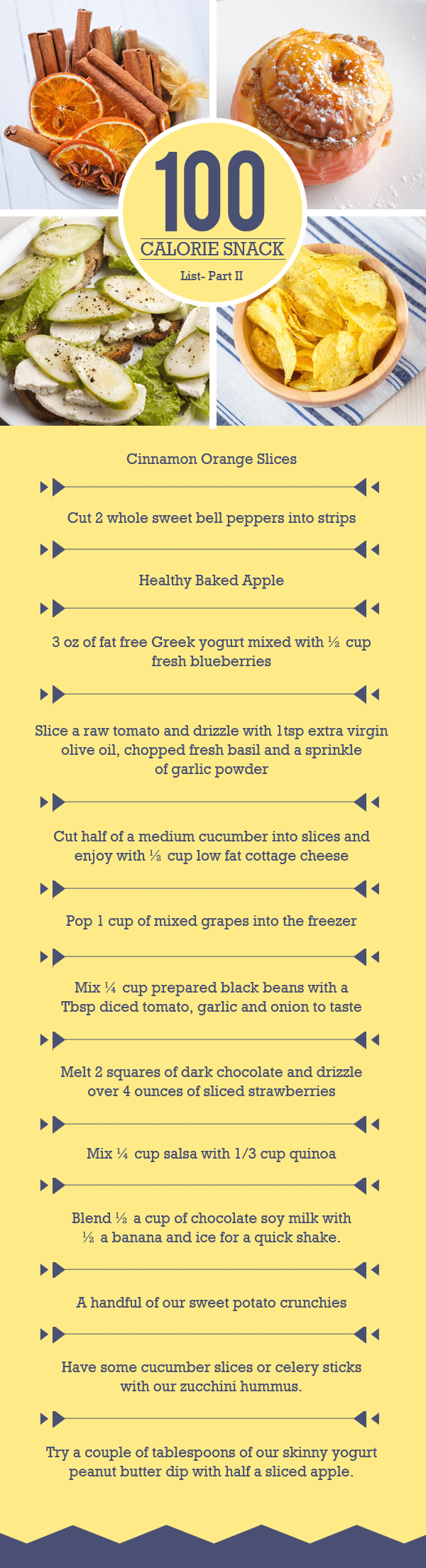 Easy to Prepare 100 Calorie Snacks