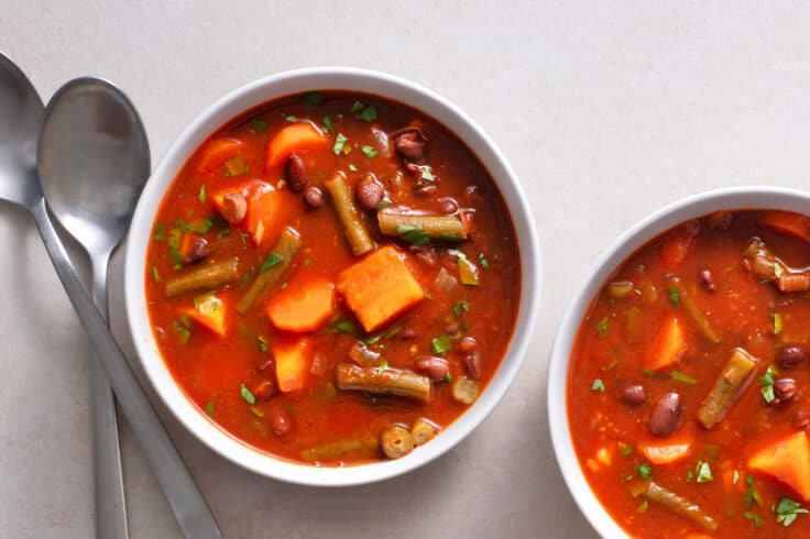 This Skinny Slow Cooker Superfood Soup is just as yummy leftover!