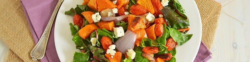 Winter Sweet Potato Salad with Blood Orange Vinaigrette