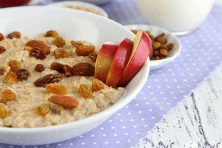 Flax and Apple Raisin Oatmeal