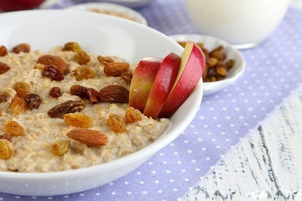 Flax and Apple Raisin Oatmeal
