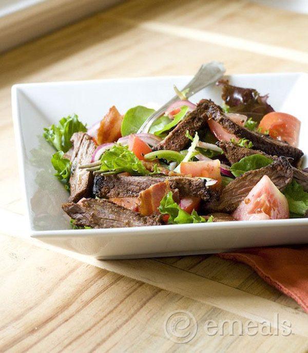Blackened Skirt Steak BLT Salad